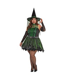 Spell Caster Witch Adult Women's Costume - Plus Size