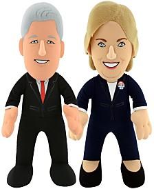 Bleacher Creatures Dynamic Duo - Bill and Hillary Clinton Plush Figure Bundle