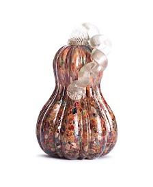 Glitzhome Glass Gourd Pumpkin