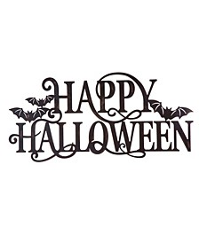 Metal Happy Halloween Wall Sign
