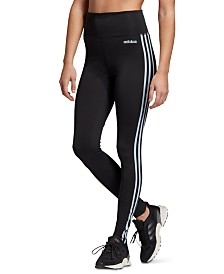 adidas Design 2 Move 3-Stripe High-Rise Leggings