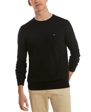 Tommy Hilfiger Men's Big & Tall Signature Crewneck Cotton Sweater