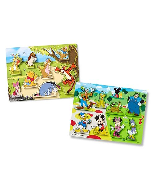 Melissa and Doug Disney Chunky Puzzle Bundle