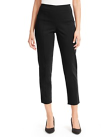 JM Collection Petite Lace-Up Skinny Ankle Pants, Created For Macy's