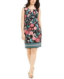 JM Collection Sleeveless Embellished Keyhole Dress, Created for Macy's