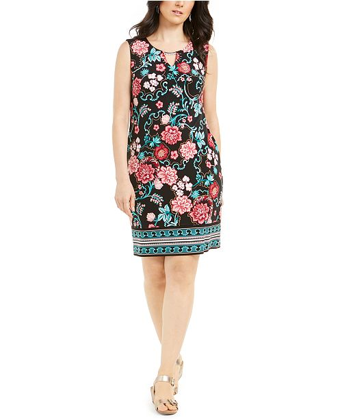 Macy's JM Collection Petite Printed Sheath Dress, Created For Macy's