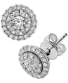 EFFY® Diamond Halo Stud Earrings (3/4 ct. t.w.) in 14k White Gold