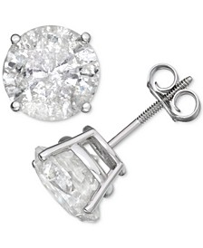 Diamond Stud Earrings (6 ct. t.w.) in 14k White Gold