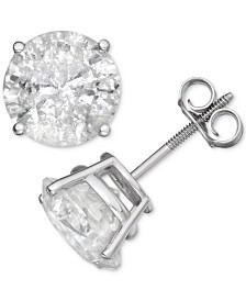 Diamond Stud Earrings (6 ct. t.w.) in 14k White Gold