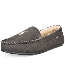 Polo Ralph Lauren Men's Big & Tall Faux-Suede Slippers