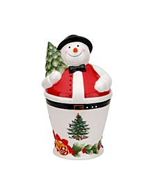 Christmas Tree Mr. Snowman Cookie Jar