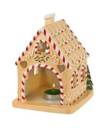 Spode Christmas Tree Gingerbread House Tealight Holder
