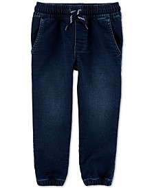 Toddler Boys Pull-On Denim Jogger Pants
