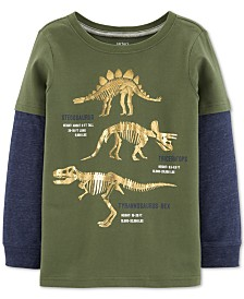 Carter's Little & Big Boys Dinosaur-Print Layered-Look T-Shirt