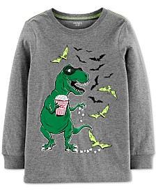 Carter's Little & Big Boys Dinosaur Bats-Print Cotton T-Shirt