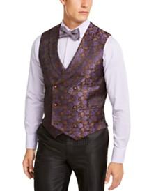 Tallia Men's Slim-Fit Purple Floral Vest