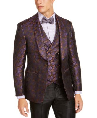 Men's Purple Floral Dinner Jacket