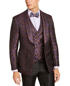 Tallia Men's Purple Floral Dinner Jacket