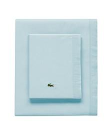 Lacoste Percale Pale Aqua Solid King Pillowcase Pair