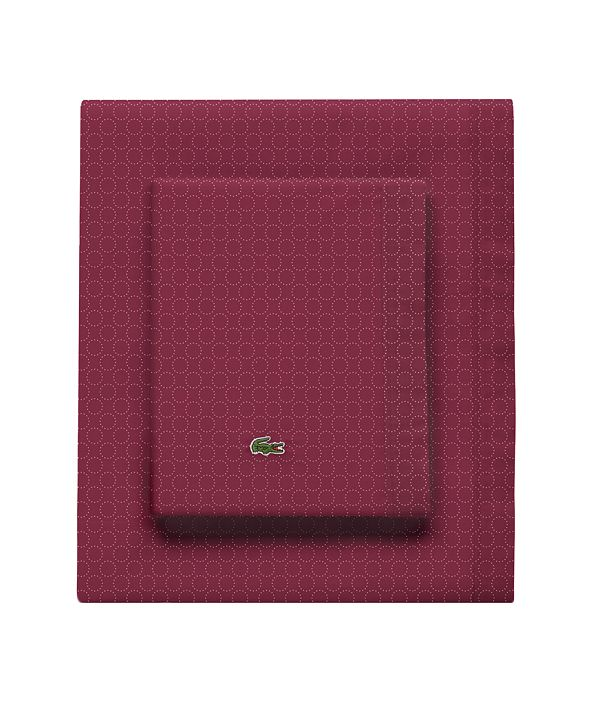 Lacoste Home Lacoste Rings Pomegranate Twin Sheet Set
