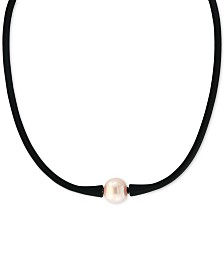 "EFFY® Pink Cultured Freshwater Pearl (11mm) Silicone Rubber 14"" Choker Necklace"