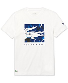 Men's Performance Stretch Novak Djokovic Logo Graphic T-Shirt