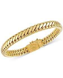 Heavy Serpentine Link Bracelet in 14k Gold-Plated Silver, Also available in Sterling Silver, Created for Macy's