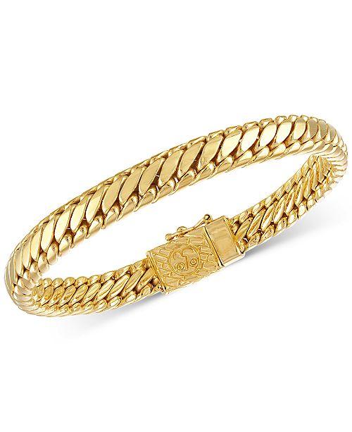 Jewelry Heavy Serpentine Link Bracelet