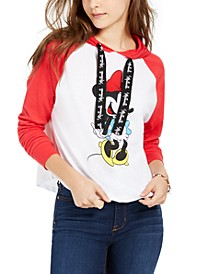 Disney By Juniors' Minnie Raglan-Sleeve Hoodie