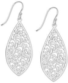 Filigree Drop Earrings in Fine Silver-Plate