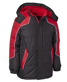 Wippette Little Boys Hooded Colorblocked Puffer Jacket With Hat