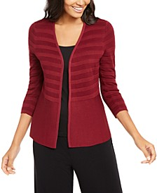 Petite Mixed-Stitch Cardigan, Created for Macy's