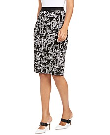 Printed Jacquard Pencil Skirt, Created for Macy's