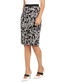 Alfani Printed Jacquard Pencil Skirt, Created for Macy's
