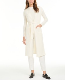 Anne Klein Long Tie-Waist Cardigan