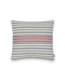 Triple Ribbon 20 Square Decorative Pillow
