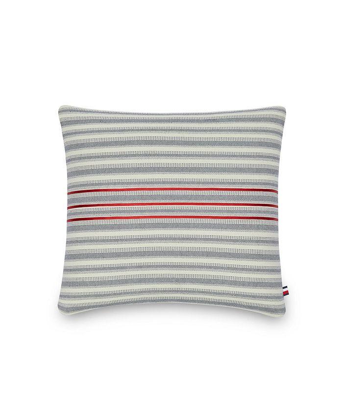 Tommy Hilfiger - Triple Ribbon 20 Square Decorative Pillow