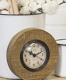 VIP Home & Garden Round Wood Magnet Clock
