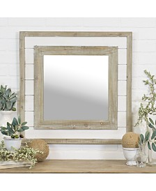 "VIP Home & Garden 24"" Square Wood Mirror"