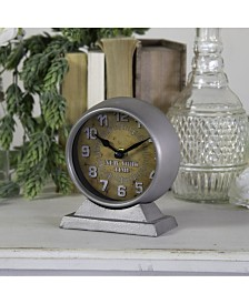 "VIP Home & Garden Metal ""New York"" Table Clock"