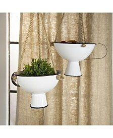 VIP Home & Garden Metal Hanging Planter Set