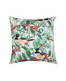 Holly Bird Indoor/Outdoor Pillow