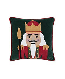 Nutcracker King Chain Stitch Pillow