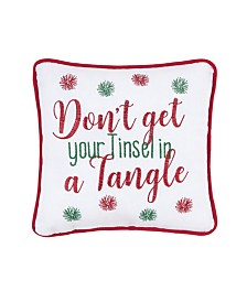 C&F Home Tinsel in a Tangle Pillow