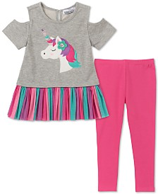 Kids Headquarters Baby Girls 2-Pc. Unicorn Tunic & Leggings Set