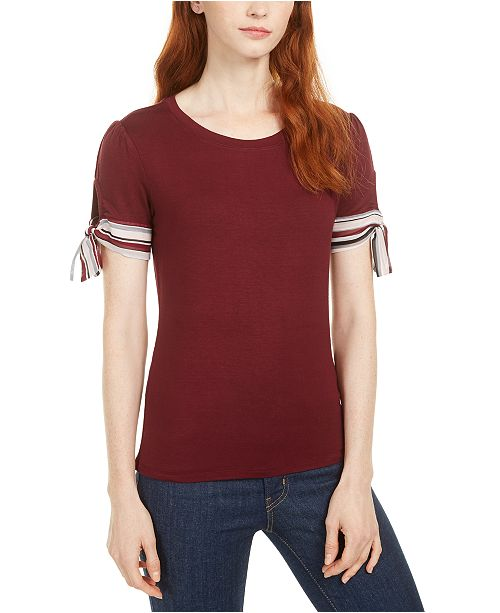 Maison Jules Tie-Sleeve Top, Created for Macy's