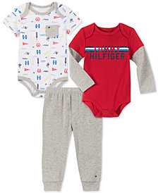 Tommy Hilfiger Baby Boys 3-Pc. Bodysuits & Jogger Pants Set
