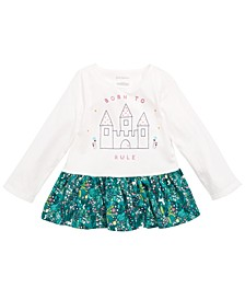 Baby Girls Cotton Peplum-Hem Tunic, Created for Macy's