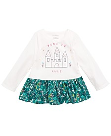 First Impressions Baby Girls Cotton Peplum-Hem Tunic, Created for Macy's