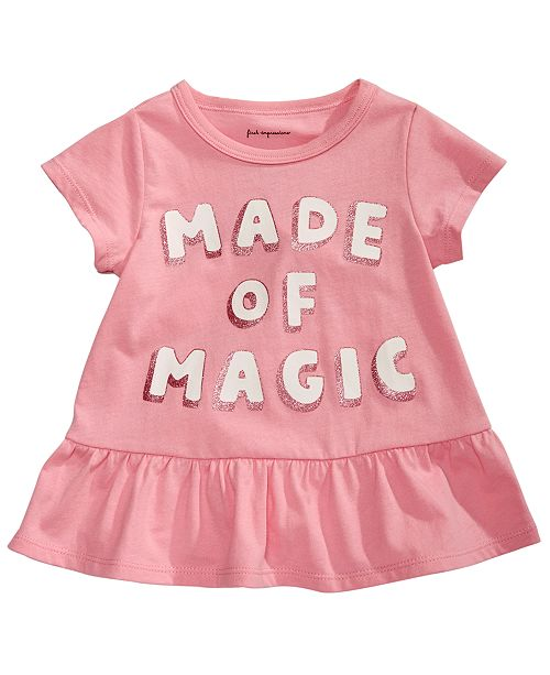 First Impressions Toddler Girls Made Of Magic Peplum T-Shirt, Created for Macy's